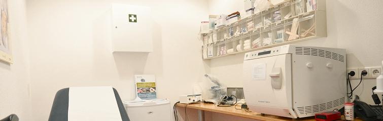 Foto behandelkamer bij Huisartsencentrum Pniël.