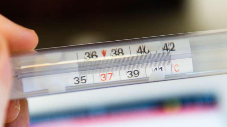 Rechtenvrije foto van Mattea Fusco via Unsplash van thermometer die 37 graden aangeeft.